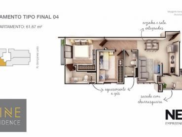 Foto 12 - Apartamento à Venda em Ponta Grossa, Oficinas, 2 quartos, Ref.: 96854-4 - ProcureImóvel
